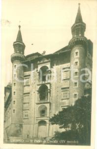 1929 URBINO (PU) Facciata del Palazzo Ducale *Cartolina FP VG