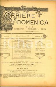 1890 CORRIERE DELLA DOMENICA In morte di Raffaele CATTANEO *Rivista ANNO I n° 3
