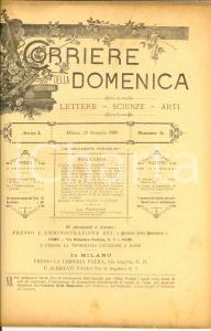 1890 CORRIERE DELLA DOMENICA In morte di Giuseppe BRENTANO *Rivista ANNO I n°2