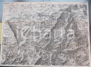 1852 ST JULIEN - Gran Carta STATI SARDI in terraferma *Mappa n° 11 50x70 cm