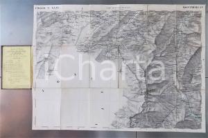 1852 MONTMELLIAN / SAVOIE - Gran Carta STATI SARDI terraferma *Mappa n° 20 50x70