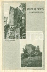 1941 CANOSSA (RE) Vedute dei ruderi del Castello *Cartolina FP NV