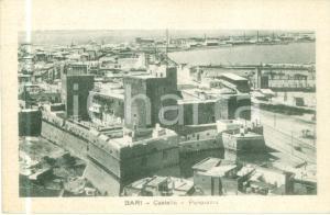 1930 ca BARI Panorama con il Castello e il porto *Cartolina FP NV