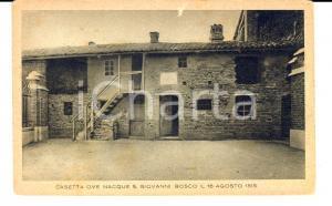 1938 CASTELNUOVO DON BOSCO (AT) Casa natale DON BOSCO *Cartolina con timbro