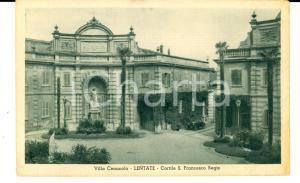 1930 ca LENTATE SUL SEVESO Villa CENACOLO Cortile S. Francesco REGIS *Cartolina