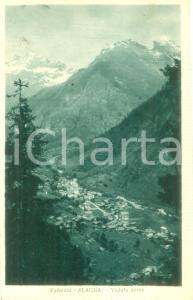 1933 ALAGNA VALSESIA (VC) Veduta aerea del paese *Cartolina FP VG