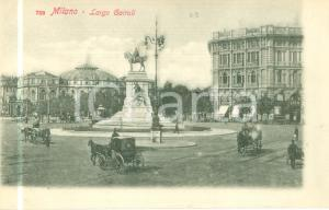 1900 ca MILANO Carrozze in largo CAIROLI Albergo EDEN *Cartolina FP NV