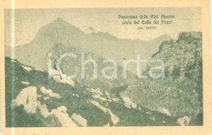 1930 ca ALPI APUANE Scalatore sul Colle dei POZZI *Cartolina FP NV