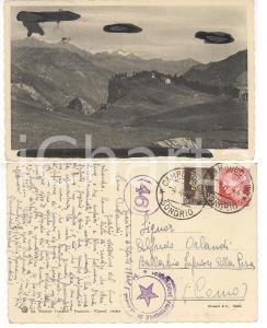 1944 RSI FRACISCIO / CAMPODOLCINO Cartolina Virgilio TRUSSONI TImbri CENSURA 17R
