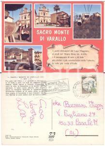 1987 SACRO MONTE DI VARALLO Cartolina TIMBRO PUBBLICITARIO 45 Cappelle FG VG