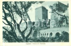 1937 CAGLIARI La Torre di SAN PANCRAZIO Cartolina postale FP VG