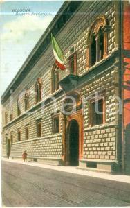 1930 BOLOGNA Scorcio di Palazzo BEVILACQUA Cartolina ILLUSTRATA FP VG