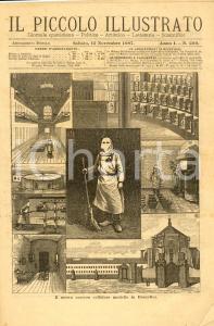 1887 IL PICCOLO ILLUSTRATO Nuovo carcere cellulare a Bruxelles *Anno I n° 209