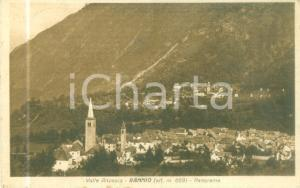 1930 BANNIO ANZINO (VB) Panorama del paese in Valle ANZASCA *Cartolina FP VG