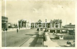 1935 GENOVA Veduta della Stazione Marittima *Cartolina ANIMATA FP VG