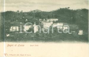 1900 BAGNI DI LUCCA Panorama del villaggio di BAGNI CALDI *Cartolina FP NV