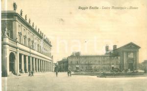 1942 REGGIO EMILIA teatro Municipale e Museo *Cartolina ANIMATA FP NV