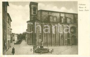 1930 ca FABRIANO (AN) Chiesa di Santa Lucia *Cartolina FP VG DANNEGGIATA