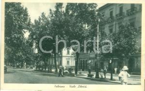 1940 PALERMO Passanti in Viale Libertà *Cartolina postale FP VG