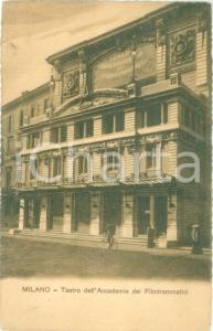 1908 MILANO Teatro dell'Accademia dei Filodrammatici *Cartolina FP VG