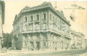 1906 MILANO Carretti in Corso VENEZIA alla Casa Rossa *Cartolina postale FP VG