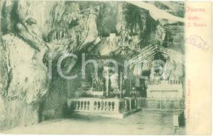 1900 ca PALERMO La Grotta di SANTA ROSALIA *Cartolina FP VG