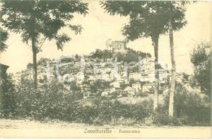 1927 ZAVATTARELLO (PV) Panorama con il castello *Cartolina FP VG