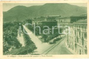 1925 LA SPEZIA Vista generale giardini e Viale MAZZINI *Cartolina FP VG