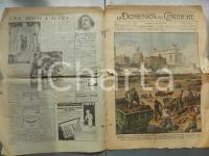 1932 DOMENICA DEL CORRIERE Lavori per i nuovi Fori Imperiali *Con sovracoperta