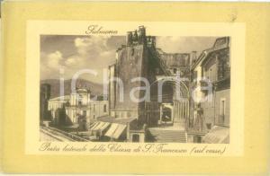 1930 ca SULMONA (AQ) Porta laterale Chiesa di SAN FRANCESCO *Cartolina FP NV