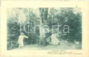 1918 INNAMORATI Giocando a nascondino nel bosco*Cartolina FP NV