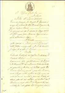 1891 CASTANO PRIMO (MI) Nota d'iscrizione contro Eustorgio COLOMBO per capitale