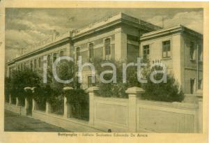 1945 ca BATTIPAGLIA (SA) Edificio scolastico Edmondo DE AMICIS Cartolina FG VG