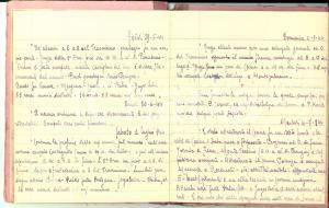 1944 YOL (INDIA) POW Giuseppe BADIALI Diario della guerra in Italia *Manoscritto