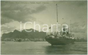 1935 ca PALERMO Il postale per NAPOLI e Monte PELLEGRINO *Cartolina FP NV