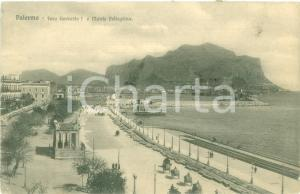 1912 PALERMO Foro Umberto I e Monte Pellegrino *Cartolina FP VG