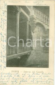 1930 POPPI (AR) Il Castello dei Conti GUIDI *Cartolina FP VG