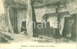 1916 SIRACUSA Latomie del Paradiso o dei Cordari *Cartolina FP VG