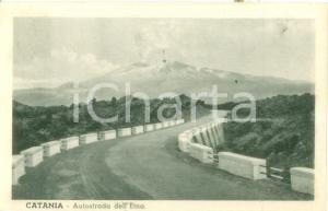 1936 CATANIA Autostrada dell'ETNA *Cartolina postale FP VG
