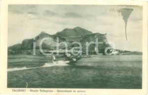 1938 PALERMO Idrovolanti in arrivo al MONTE PELLEGRINO *Cartolina FP VG