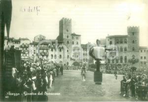 1953 AREZZO Folto pubblico alla Giostra del Saraceno *Cartolina FG VG