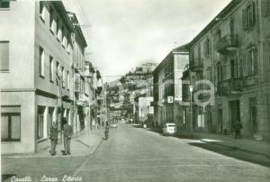 1955 CANELLI (AT) Passanti in Corso Libertà *Cartolina FG NV