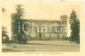 1913 COSTIGLIOLE D'ASTI Castello e Giardino Conte Rorà *Cartolina FP NV