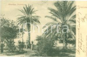 1910 SIRACUSA Panorama del Giardino pubblico *Cartolina FP VG