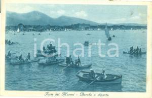 1932 FORTE DEI MARMI (LU) barche a diporto al largo *Cartolina FP VG