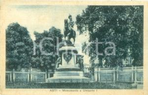 1934 ASTI Monumento equestre a Umberto I *Cartolina postale FP VG