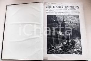 1885 - 1886 LES VEILLEES DES CHAUMIERES nn. 418-469 Annata COMPLETA in volume