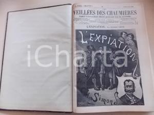 1887 - 1888 LES VEILLEES DES CHAUMIERES nn. 522-574 Annata COMPLETA in volume