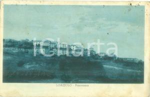 1936 LOAZZOLO (AT) Veduta panoramica del paese Cartolina FP VG