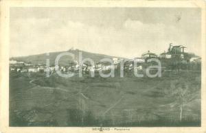 1940 BERZANO DI SAN PIETRO (AT) Panorama del paese Cartolina FP VG